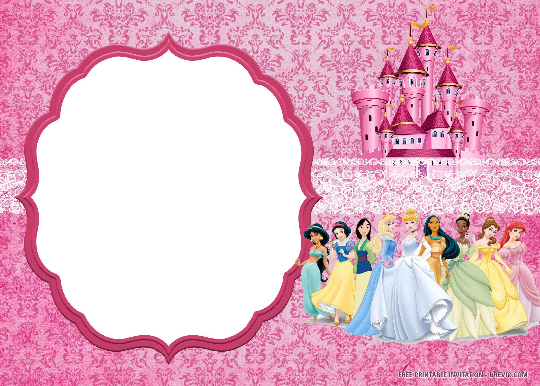Free Printable Disney Princess Invitation Templates Download Hundreds Free Printable Birthday Invitation Templates