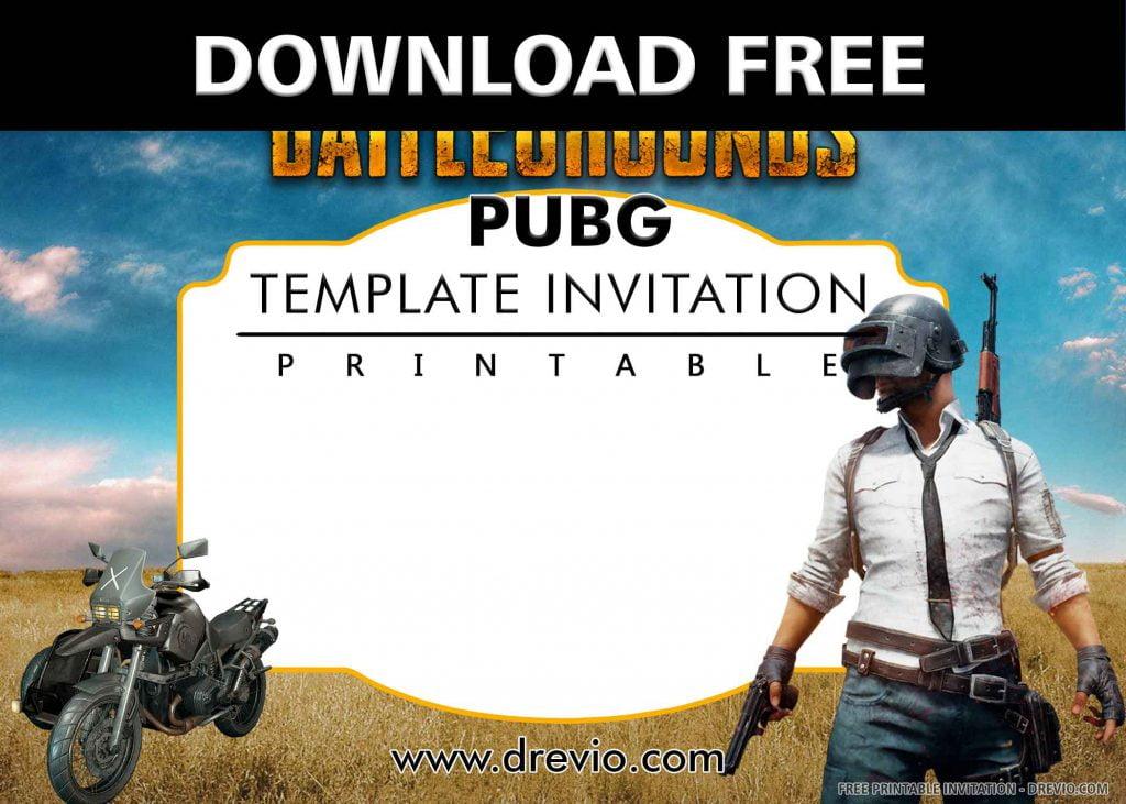 FREE PUBG Invitation with title