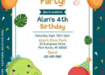 9+ Awesome Dino Party Birthday Invitation Templates