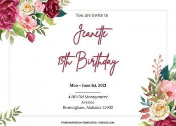 9+ Vintage Botanical Floral Invitation Templates