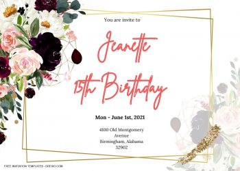 9+ Jewel Toned Floral For Invitation Templates