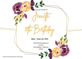 8+ Orangery Watercolor Floral Invitation Templates