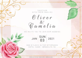 9+ Pinkish Delight Roses Floral Invitation Template