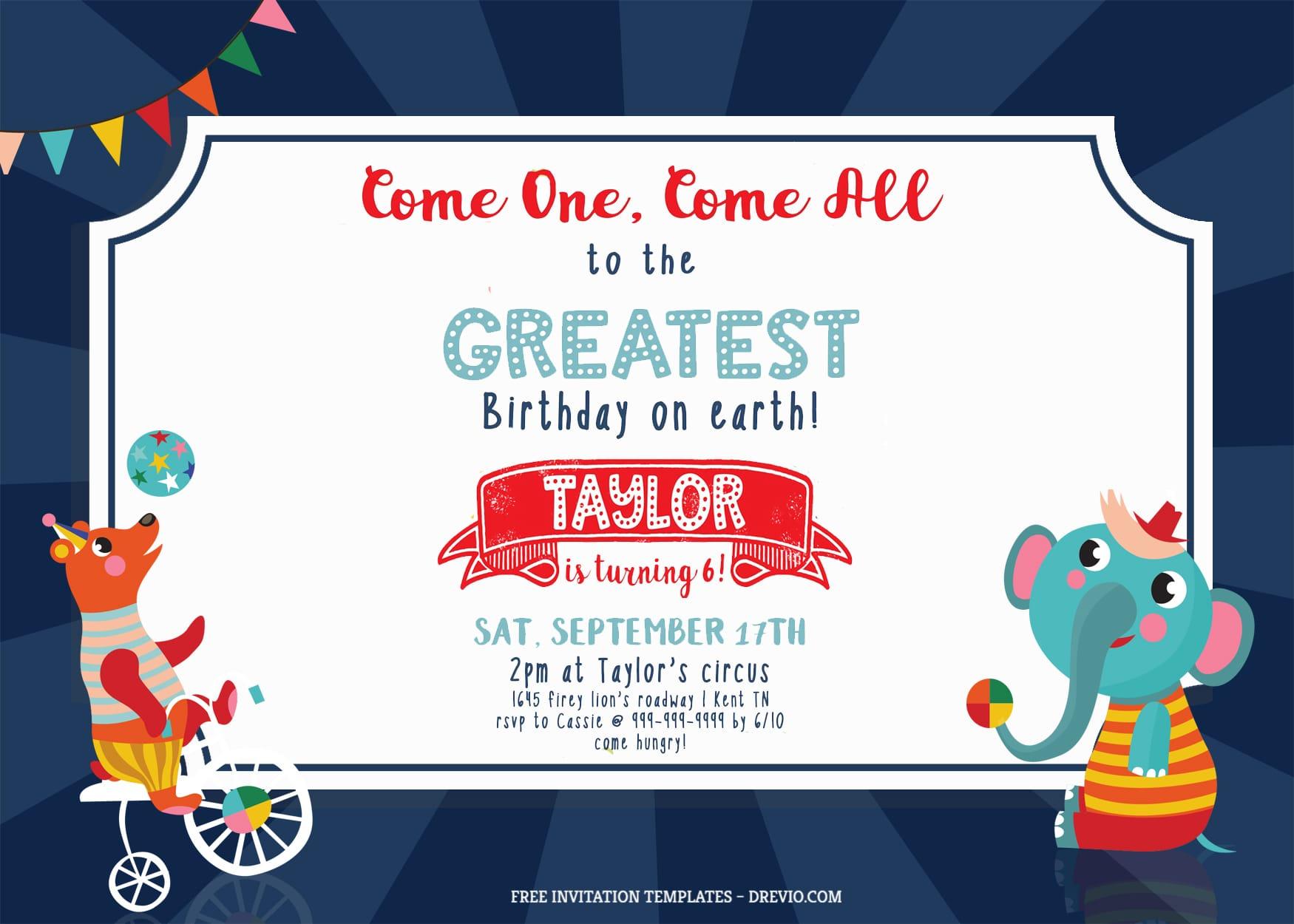 7+ Festive Carnival Party Birthday Invitation Templates Title