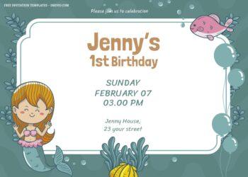 7+ Mermaid And Sea Party Birthday Invitation Templates Title