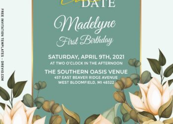 10+ Greenery Floral Chic Wedding Invitation Templates