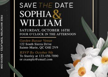 7+ Gorgeous Daffodil Wedding Invitation Templates