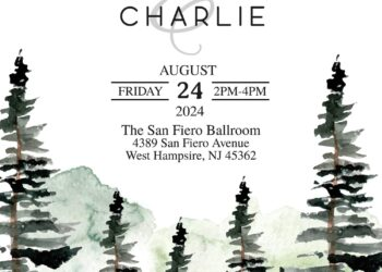 7+ Watercolor Pine Trees Wedding Invitation Templates