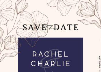 8+ Elegant Floral Save The Date Invitation Templates