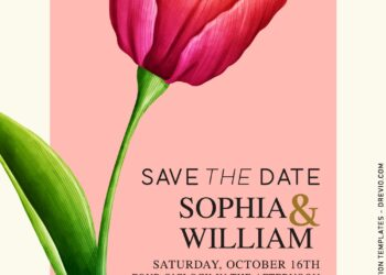8+ Modern Tulips Wedding Invitation Templates